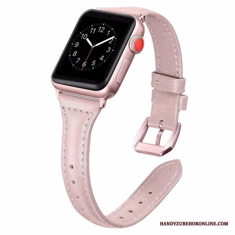 Case Apple Watch Series 1 Leder Feine Rosa, Hülle Apple Watch Series 1