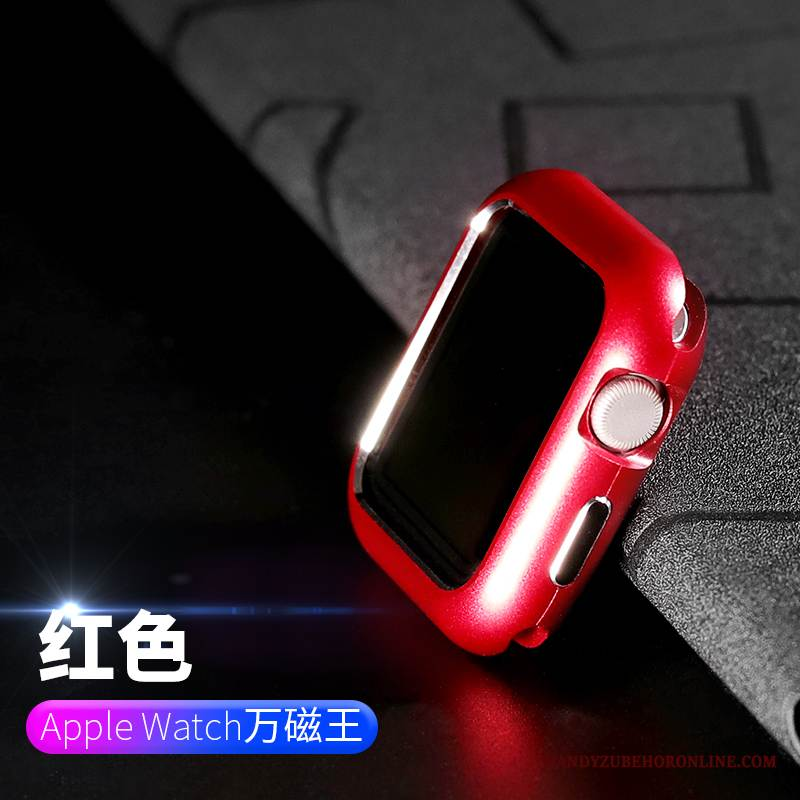 Case Apple Watch Series 1 Metall Anti-sturz Grenze, Hülle Apple Watch Series 1 Taschen Rot Überzug