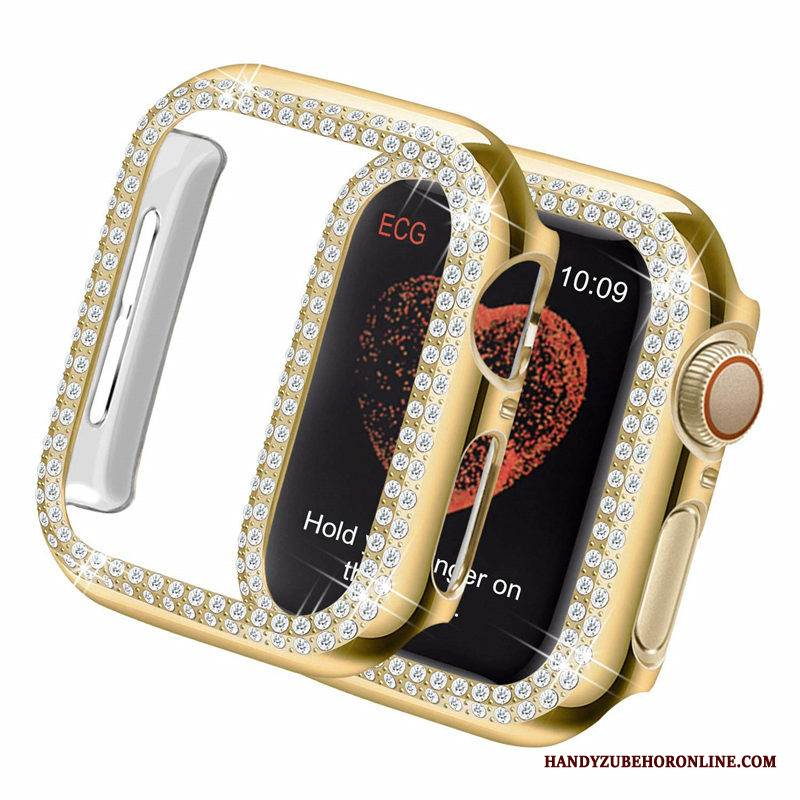 Case Apple Watch Series 1 Schutz Grenze Überzug, Hülle Apple Watch Series 1 Strass Leicht Trend
