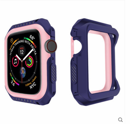Case Apple Watch Series 1 Silikon Blau Grenze, Hülle Apple Watch Series 1 Schutz Anti-sturz
