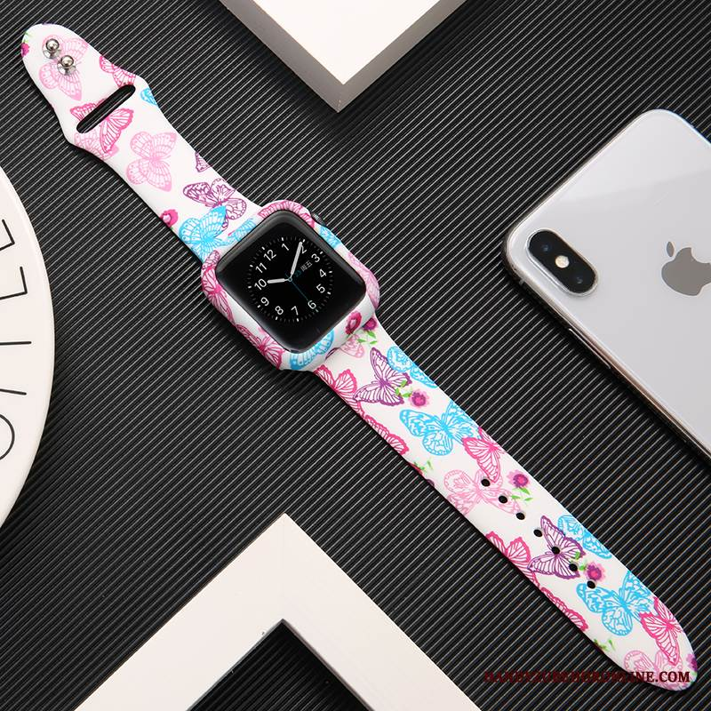 Case Apple Watch Series 1 Silikon Trend Bedrucken, Hülle Apple Watch Series 1 Kreativ Rosa