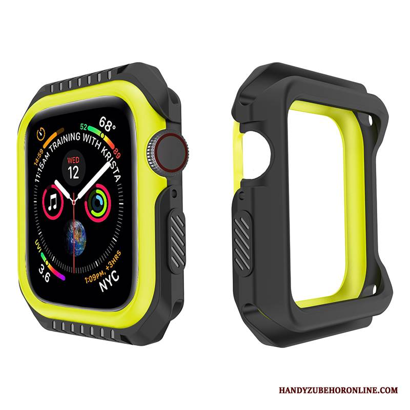 Case Apple Watch Series 1 Weiche Gelb Schwarz, Hülle Apple Watch Series 1 Schutz Anti-sturz