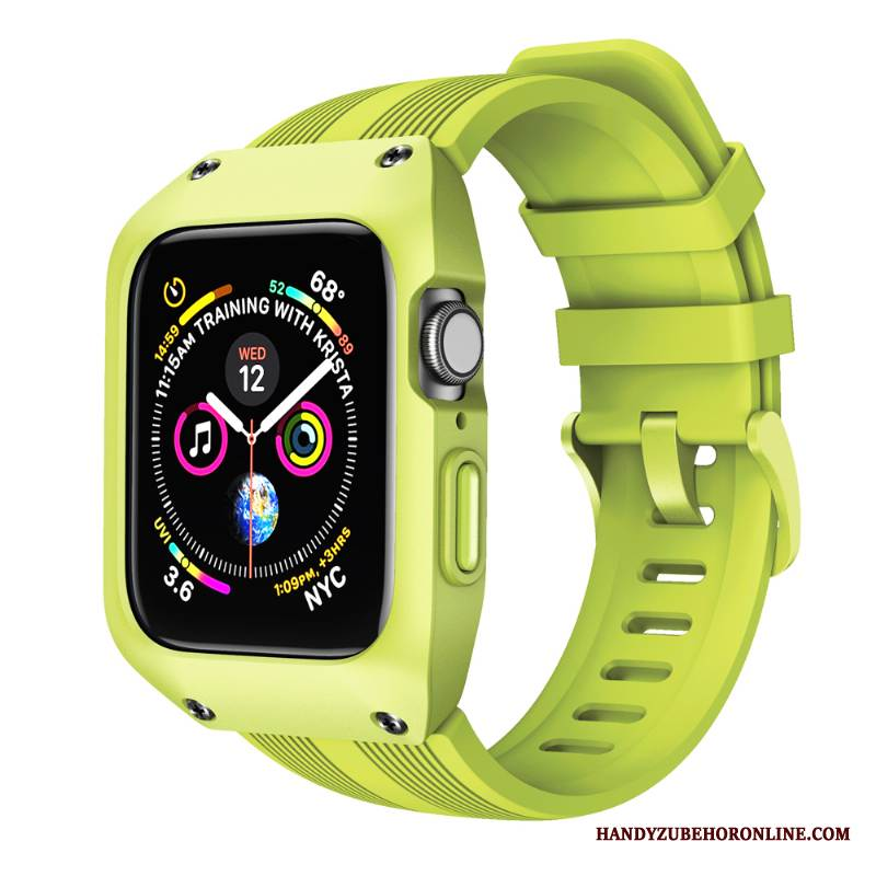 Case Apple Watch Series 4 Kreativ Anti-sturz Grün, Hülle Apple Watch Series 4 Schutz Sport
