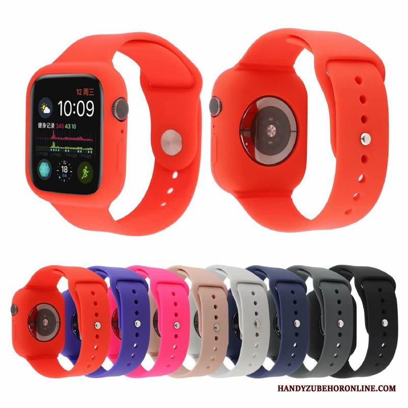 Case Apple Watch Series 4 Mode Rot Sport, Hülle Apple Watch Series 4 Schutz Trend Neu