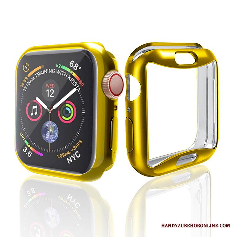 Case Apple Watch Series 4 Schutz Gold Anti-sturz, Hülle Apple Watch Series 4 Taschen Zubehör Trend