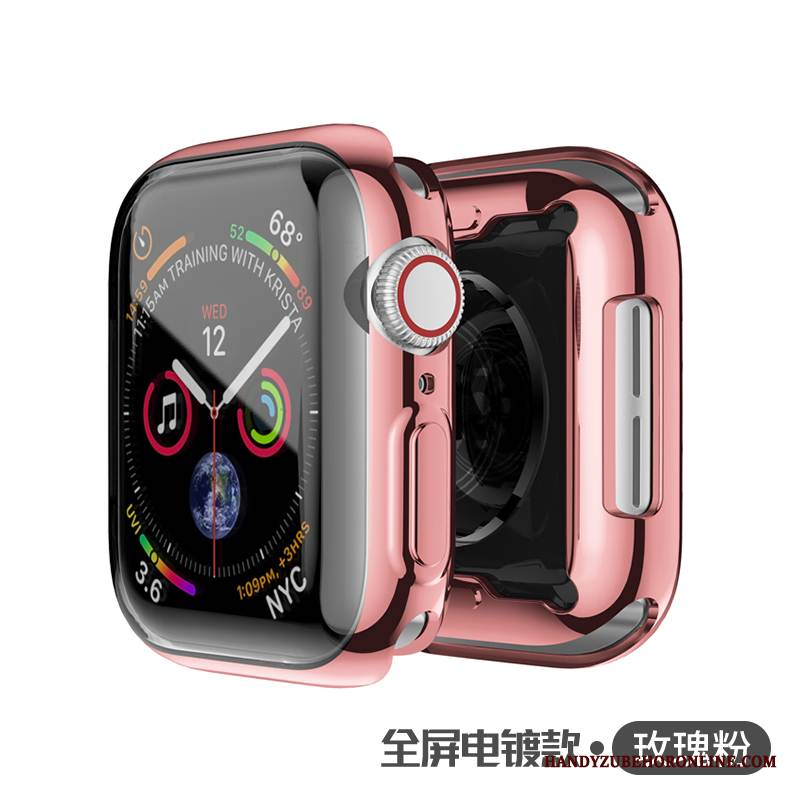 Case Apple Watch Series 4 Silikon Überzug Rosa, Hülle Apple Watch Series 4 Taschen Schlank