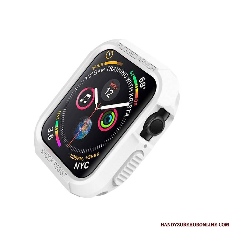 Case Apple Watch Series 4 Silikon Anti-sturz Weiß, Hülle Apple Watch Series 4 Schutz