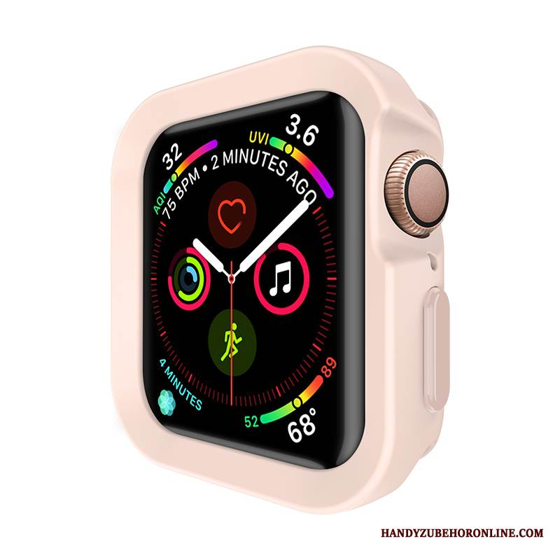 Case Apple Watch Series 4 Silikon Sport Rosa, Hülle Apple Watch Series 4 Schutz Anti-sturz