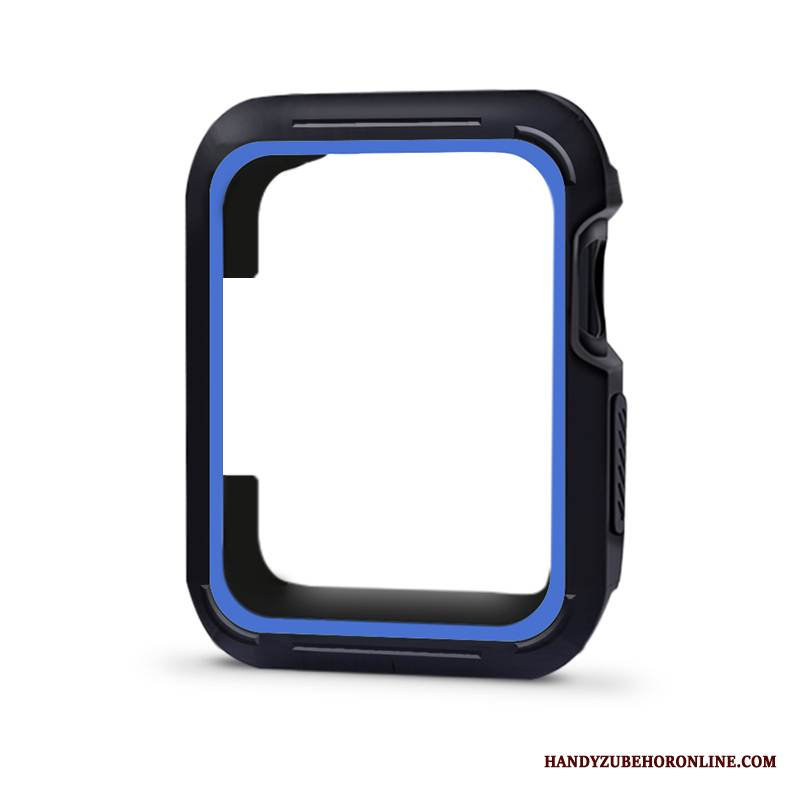 Case Apple Watch Series 4 Silikon Zweifarbig Blau, Hülle Apple Watch Series 4 Schutz