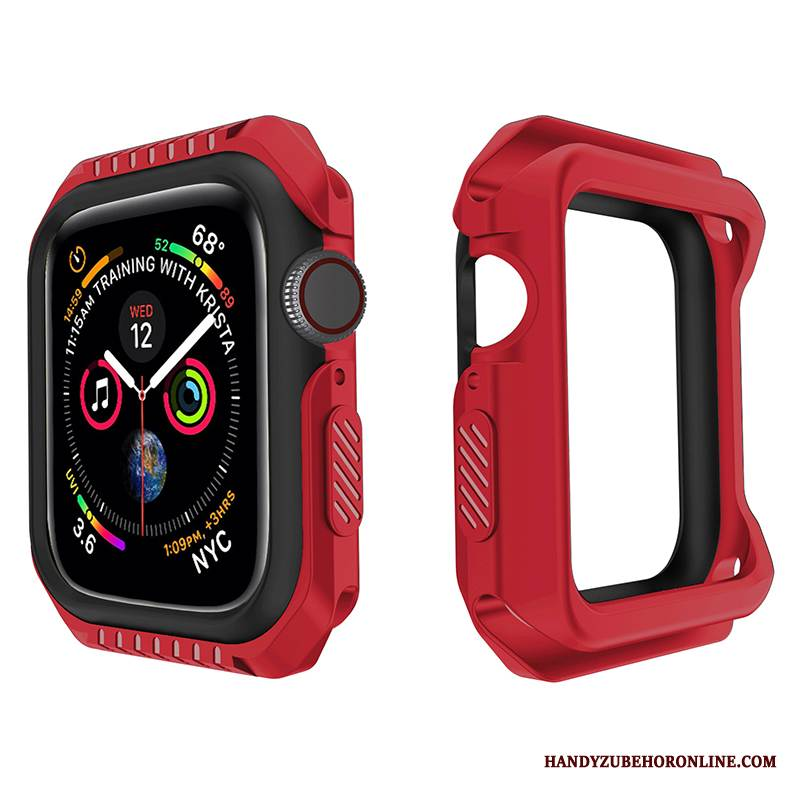 Case Apple Watch Series 4 Silikon Zweifarbig Grenze, Hülle Apple Watch Series 4 Schutz Sport Zubehör