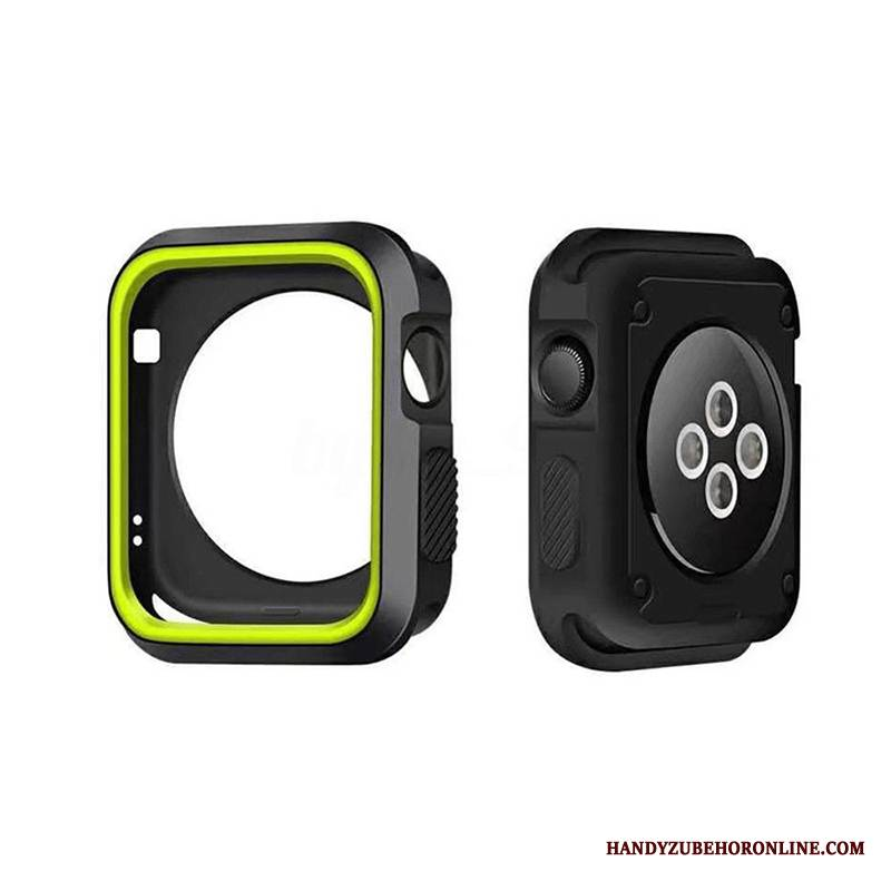 Case Apple Watch Series 4 Weiche Zubehör Anti-sturz, Hülle Apple Watch Series 4 Silikon Grenze Grün