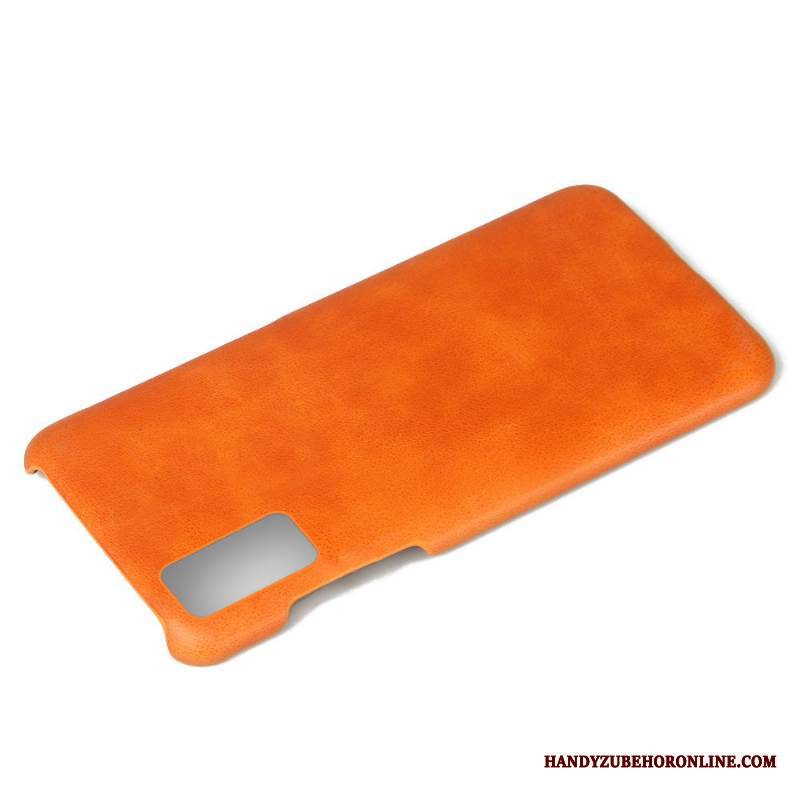 Case Honor 30 Leder Orange Business, Hülle Honor 30 Lederhülle Qualität Anti-sturz