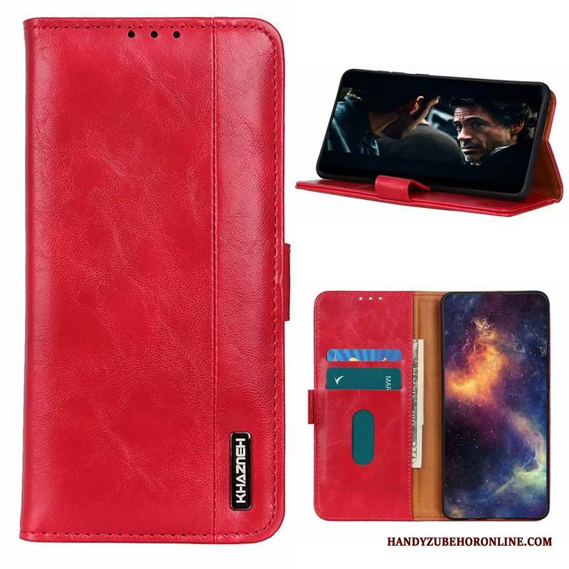 Case Honor 30 Lederhülle Rot High-end, Hülle Honor 30 Taschen Handyhüllen