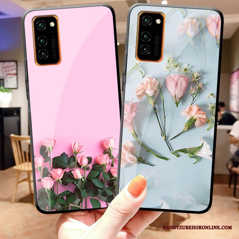 Case Honor View30 Pro Blumen Mini Rosa, Hülle Honor View30 Pro Mode Rose Handyhüllen