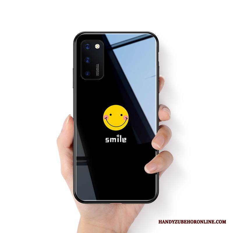 Case Honor View30 Pro Mode Glas Smiley, Hülle Honor View30 Pro Silikon Nette Liebhaber