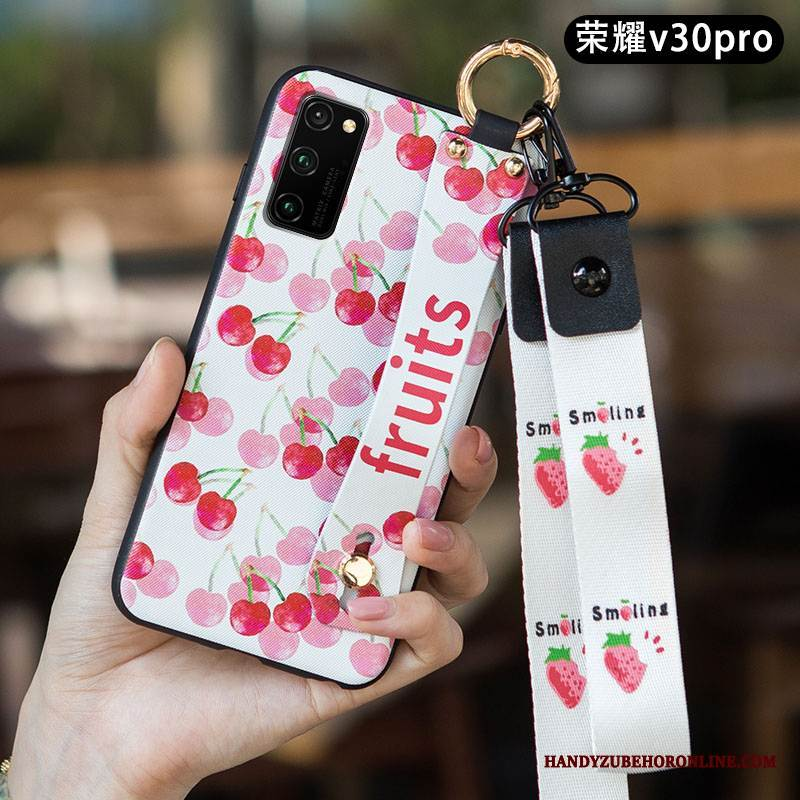 Case Honor View30 Pro Schutz Nubuck Frisch, Hülle Honor View30 Pro Weiche Anti-sturz Rosa