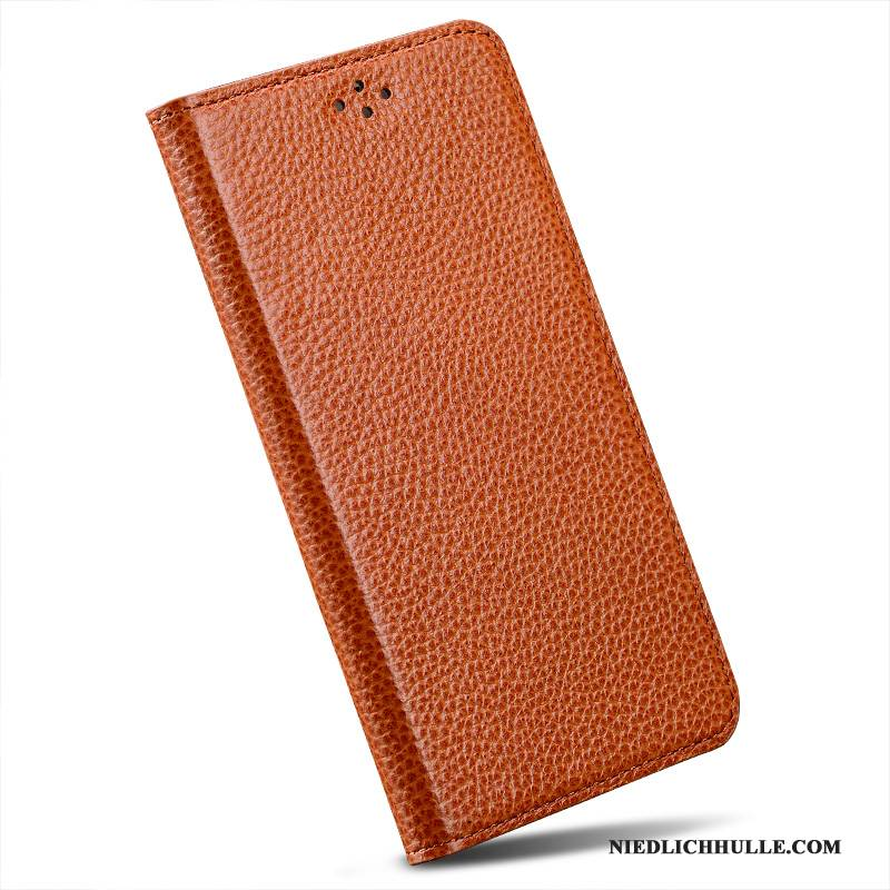 Case Htc One M9 Leder Orange Anti-sturz, Hülle Htc One M9 Folio Rot Handyhüllen