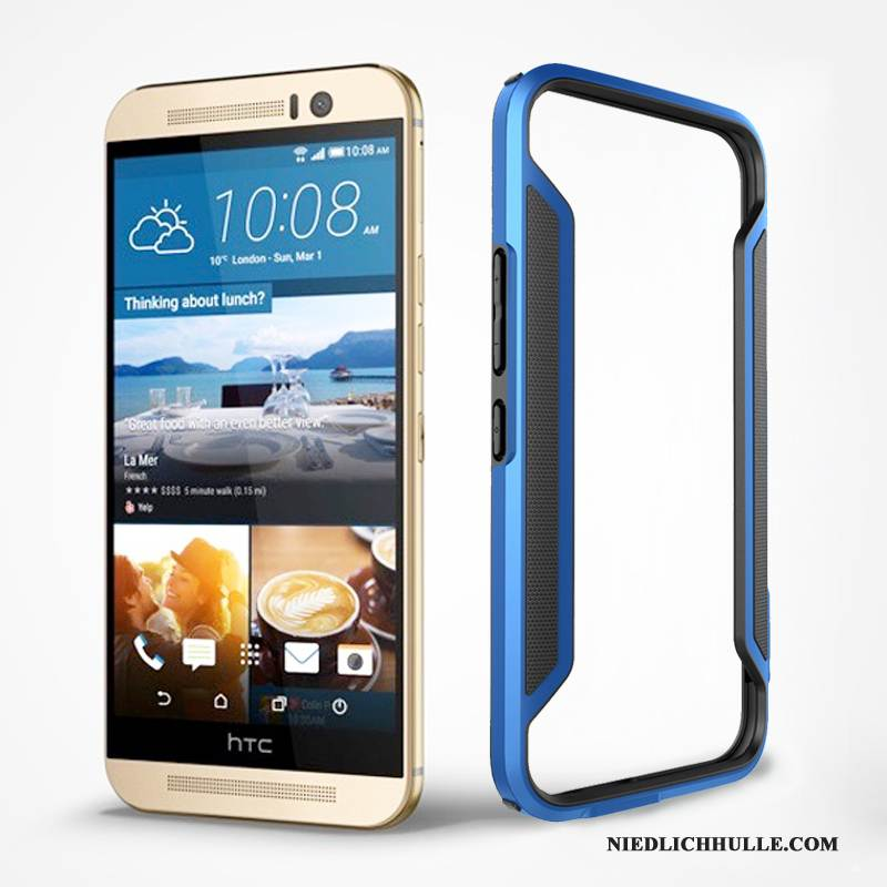 Case Htc One M9 Schutz Grenze Gold, Hülle Htc One M9 Blau Handyhüllen