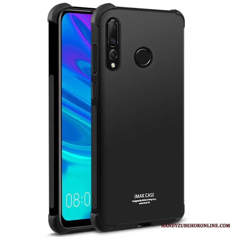 Case Huawei P Smart+ 2019 Silikon Dicke Faser, Hülle Huawei P Smart+ 2019 Weiche Muster Transparent