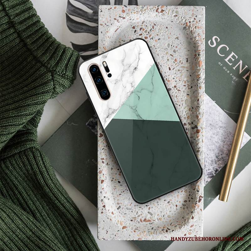 Case Huawei P30 Pro Weiche Glas Rot, Hülle Huawei P30 Pro Kreativ Trend Mesh