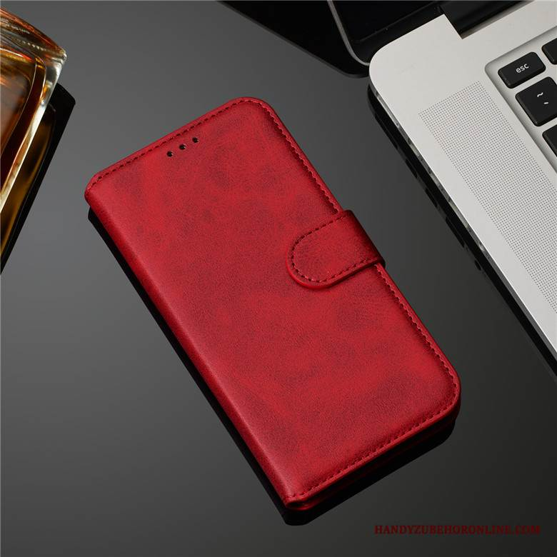 Case Samsung Galaxy A30s Folio Muster Kuh, Hülle Samsung Galaxy A30s Leder Rot Handyhüllen