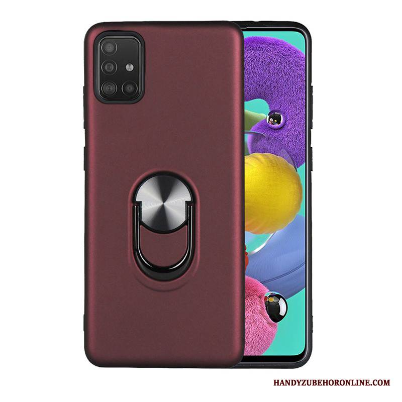 Case Samsung Galaxy A51 Schutz High-end Schwer, Hülle Samsung Galaxy A51 Halterung Dekompression Netto Rot