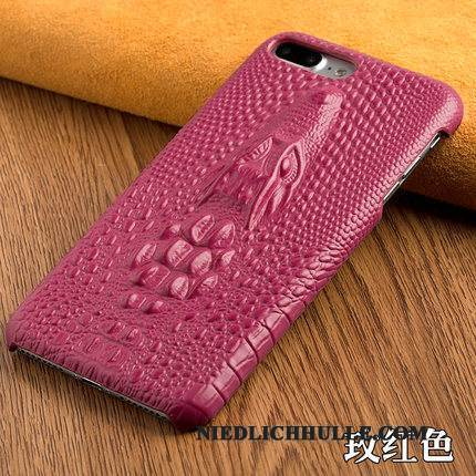 Case Samsung Galaxy A8+ Leder Lila Drachen, Hülle Samsung Galaxy A8+ Luxus Business Anti-sturz