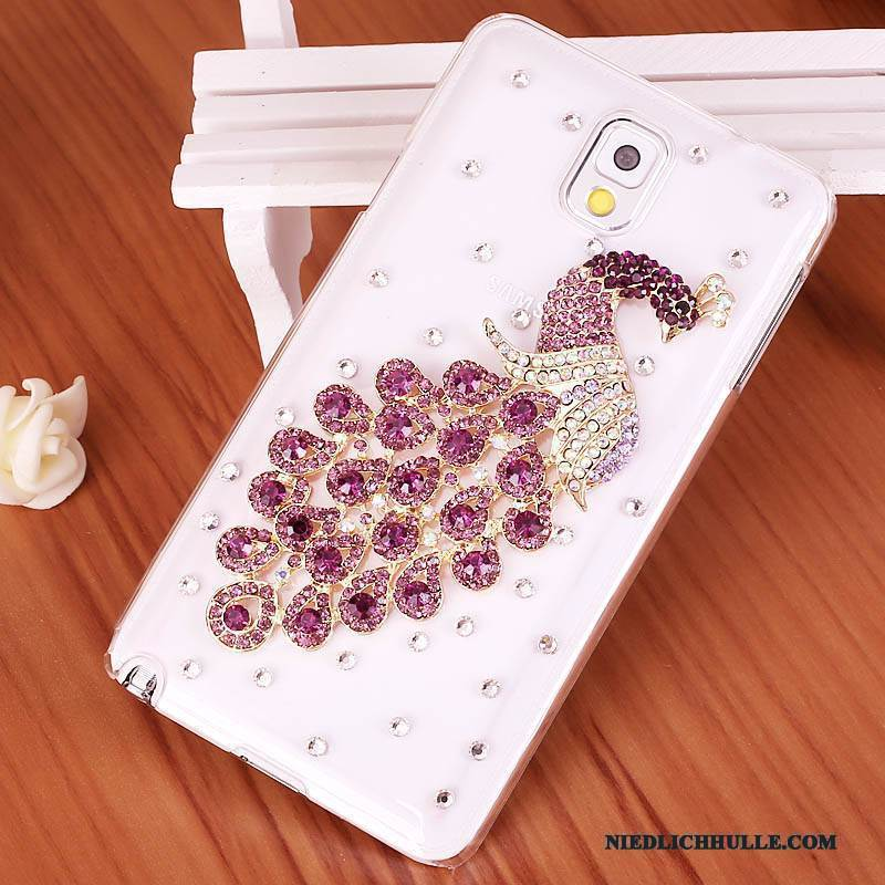 Case Samsung Galaxy Note 3 Strass Lila Handyhüllen, Hülle Samsung Galaxy Note 3 Schutz