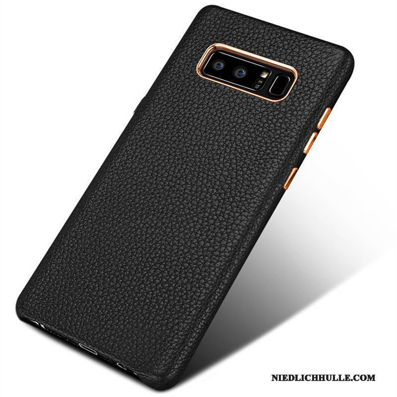 Case Samsung Galaxy Note 8 Taschen Handyhüllen Business, Hülle Samsung Galaxy Note 8 Leder Schwarz Anti-sturz