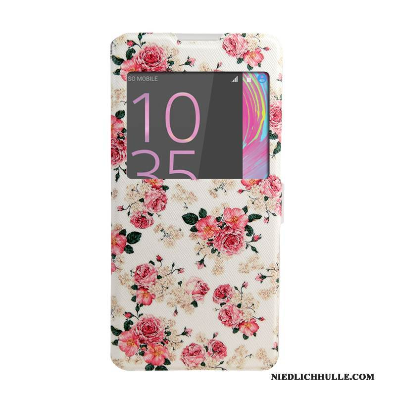 Case Sony Xperia Xa Ultra Lederhülle Windows Rosa, Hülle Sony Xperia Xa Ultra Gemalt