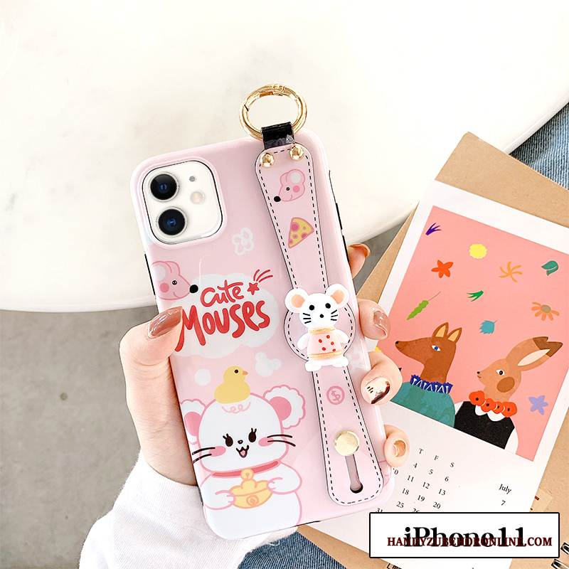 Case iPhone 11 Taschen Nette Ratte, Hülle iPhone 11 Kreativ Rosa Anti-sturz