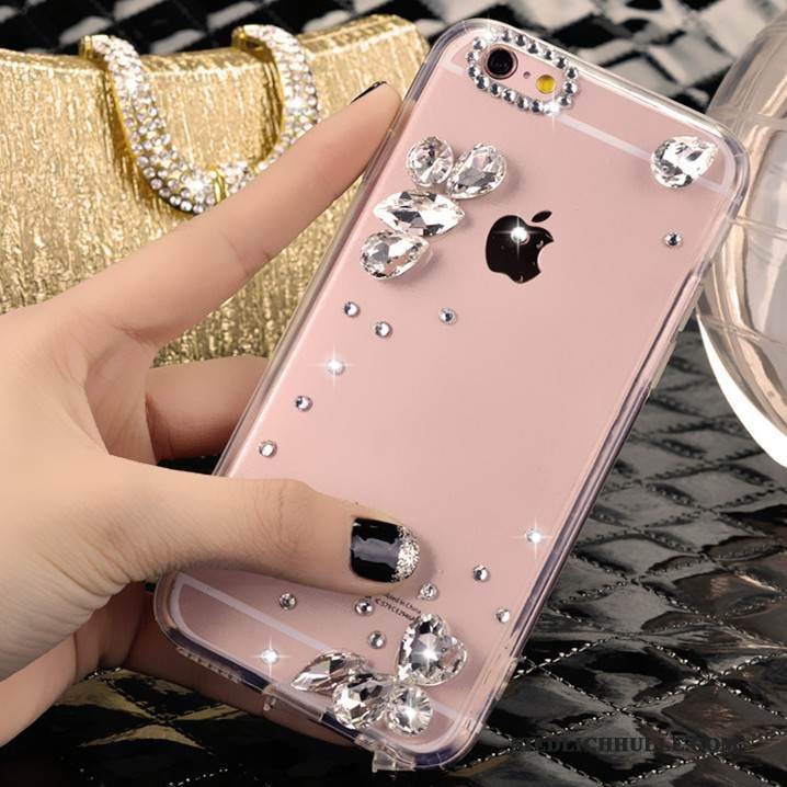Case iPhone 4/4s Strass Silber Kristall, Hülle iPhone 4/4s Trend Nette