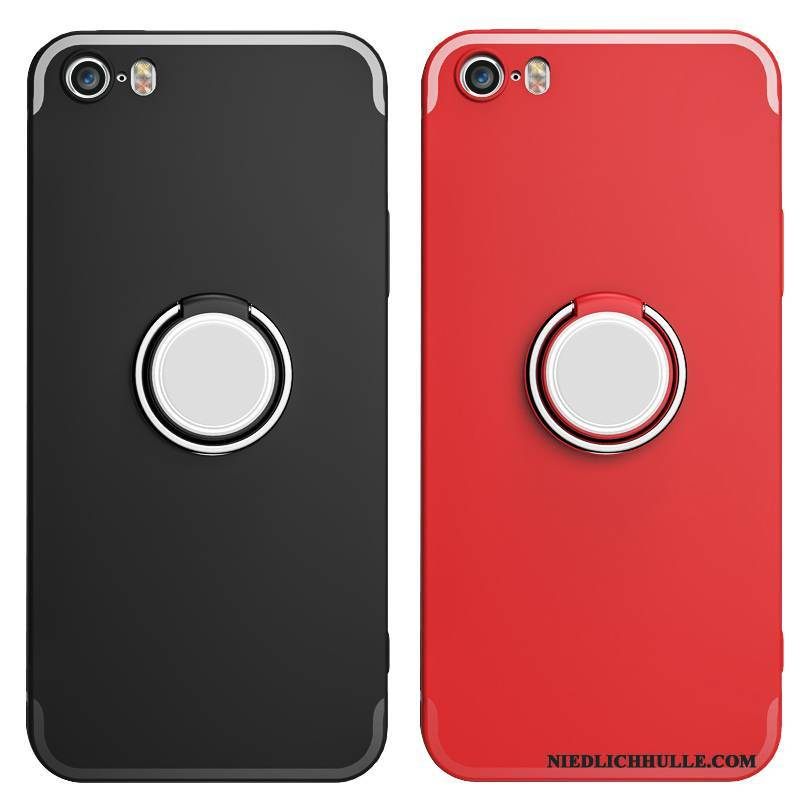 Case iPhone 5/5s Schutz Anti-sturz Schwarz, Hülle iPhone 5/5s Silikon Rot Nubuck