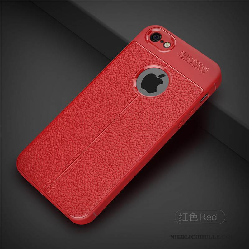 Case iPhone 5/5s Schutz Handyhüllen Rot, Hülle iPhone 5/5s Weiche Nubuck Anti-sturz