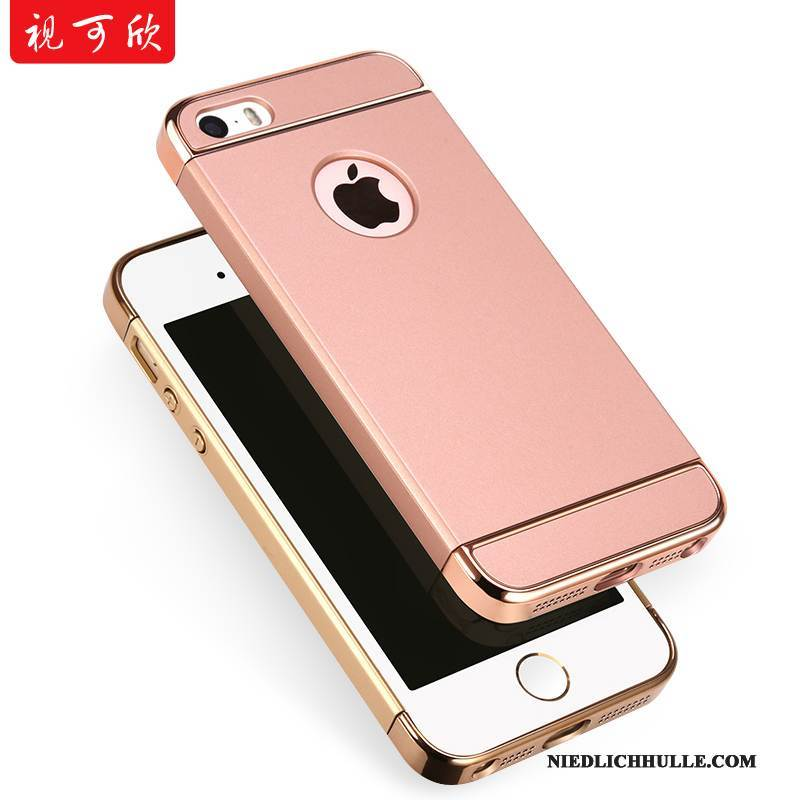 Case iPhone 5/5s Schutz Rosa Nubuck, Hülle iPhone 5/5s Anti-sturz Schwer