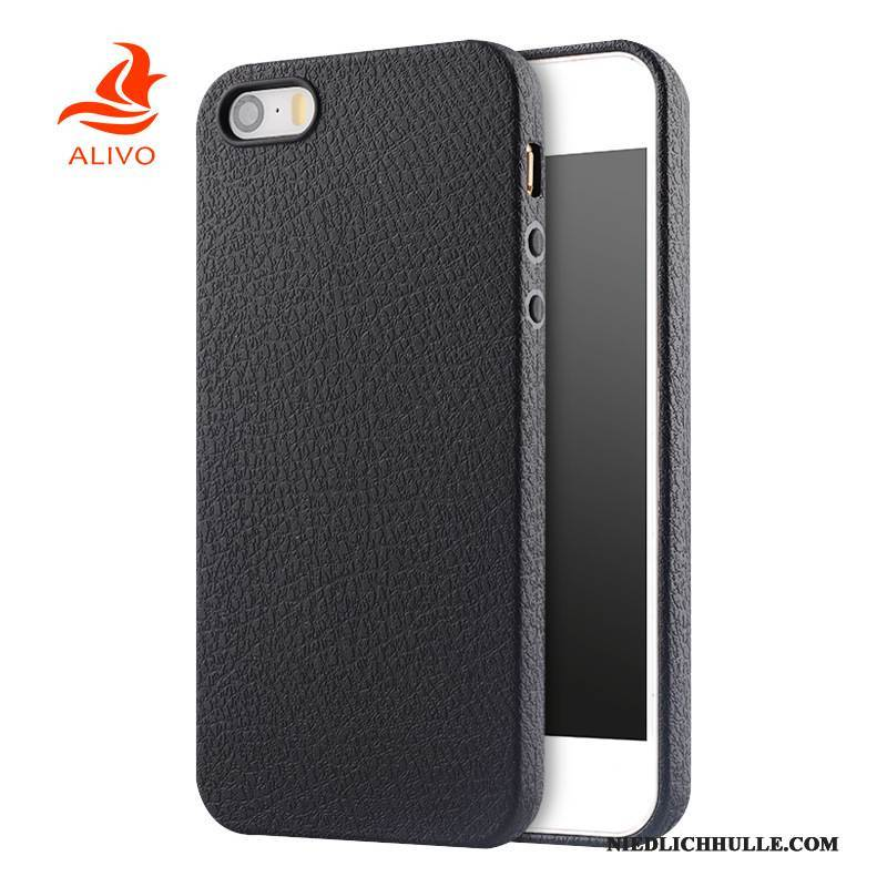 Case iPhone 5/5s Silikon Anti-sturz Handyhüllen, Hülle iPhone 5/5s Weiche Schwarz
