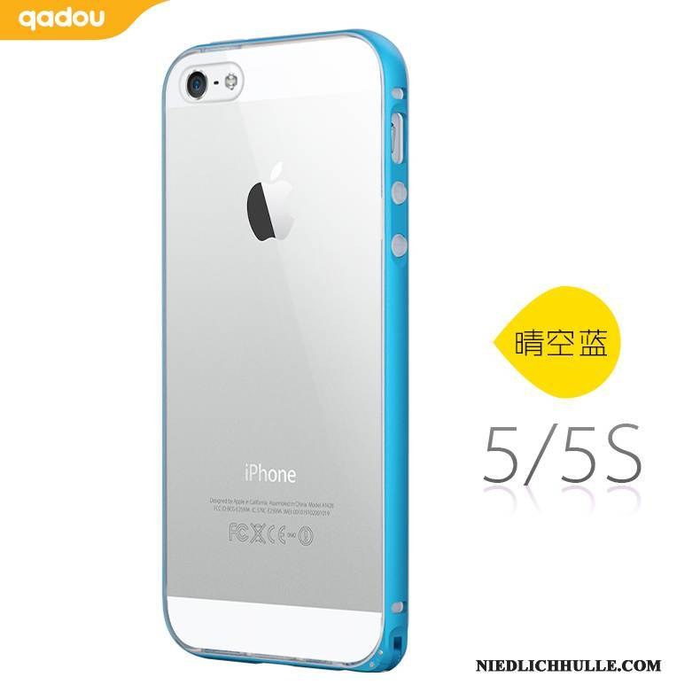 Case iPhone 5/5s Weiche Transparent Blau, Hülle iPhone 5/5s Silikon Handyhüllen Grenze