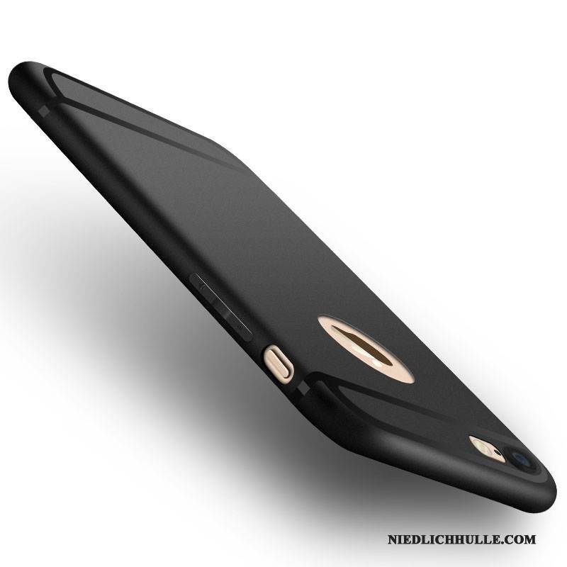 Case iPhone 6/6s Plus Weiche Schlank Handyhüllen, Hülle iPhone 6/6s Plus Silikon Nubuck Schwarz