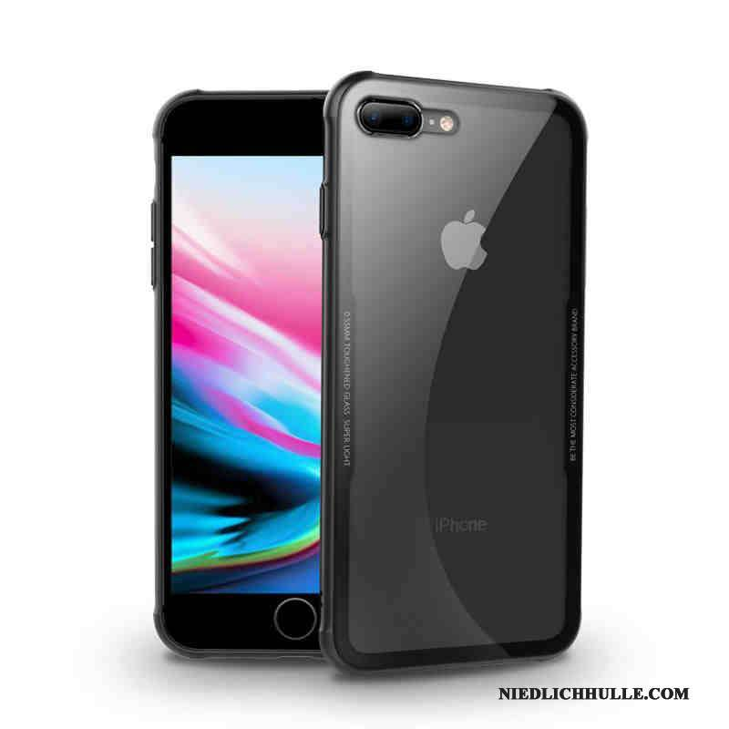 Case iPhone 8 Metall Schwarz Anti-sturz, Hülle iPhone 8 Luxus Trend Handyhüllen