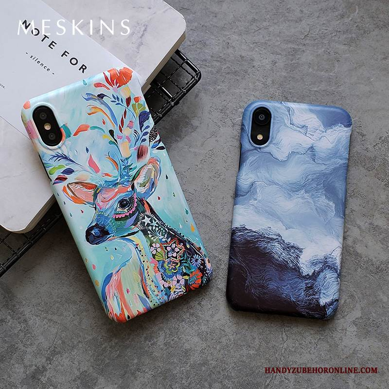 Case iPhone Xs Max Kreativ Nubuck Trendmarke, Hülle iPhone Xs Max Neu Anti-sturz