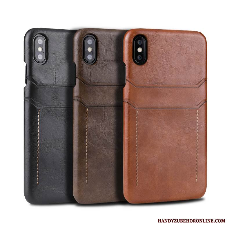 Case iPhone Xs Max Leder Trend Handyhüllen, Hülle iPhone Xs Max