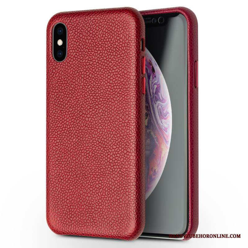 Case iPhone Xs Max Luxus Rot Handyhüllen, Hülle iPhone Xs Max Schutz