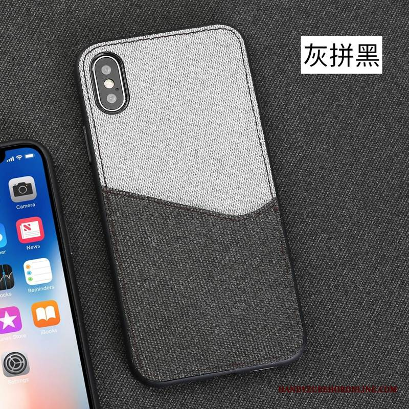 Case iPhone Xs Max Taschen Stoff Trendmarke, Hülle iPhone Xs Max Luxus Anti-sturz Muster